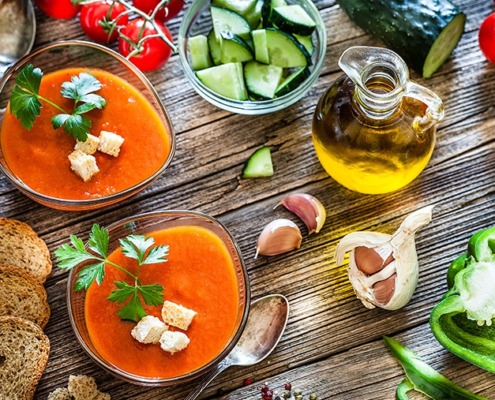 Perfekte Abkühlung: Gazpacho